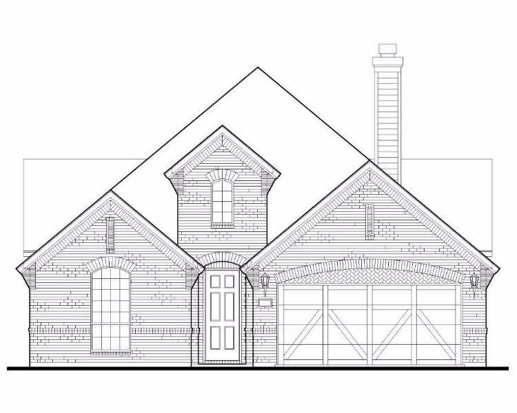 Exterior:Plan 1515 Elevation A
