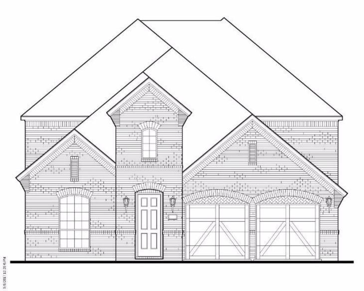 Exterior:Plan 1518 Elevation A
