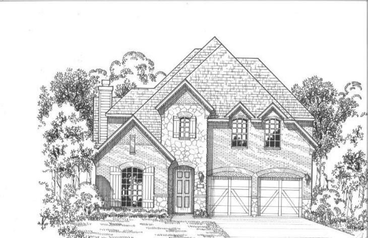 Exterior:Plan 1195 Elevation E