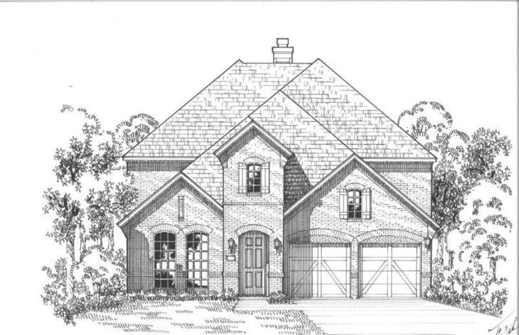 Exterior:Plan 1196 Elevation A