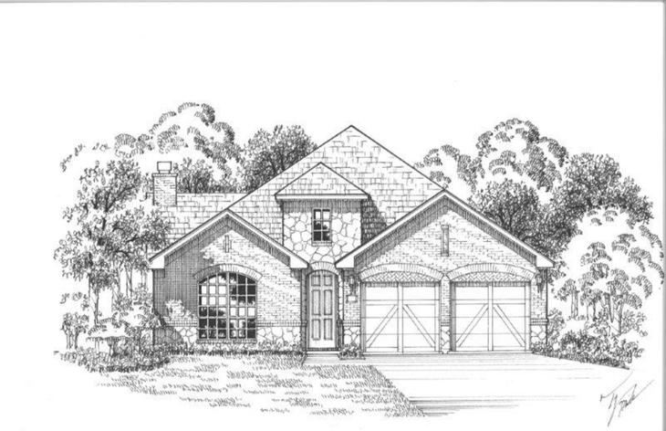 Exterior:12220 Prudence Elevation A w/ Stone