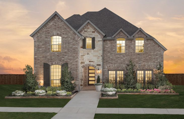 Light Farms Model Plan 1195 Front Side Elevation by American Legend Homes