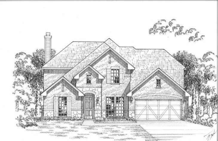 Exterior:14049 Wheatfield Elevation A w/ Stone