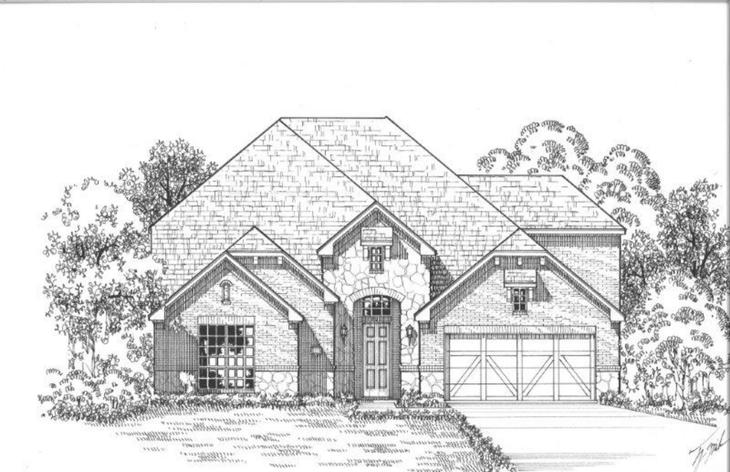 Exterior:14197 Wheatfield Elevation A w/ Stone