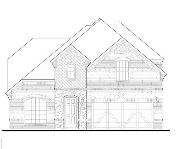 Exterior:12213 Beatrice Elevation A w/ Stone