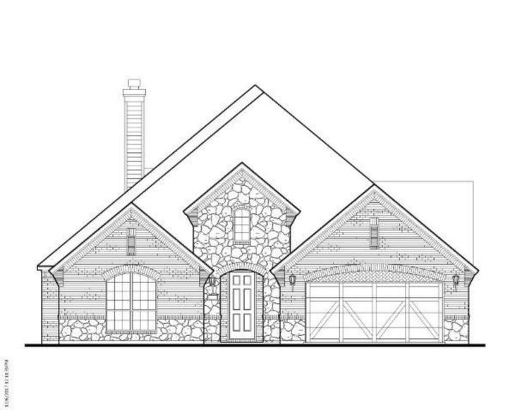 Exterior:14268 Wheatfield Elevation A w/ Stone
