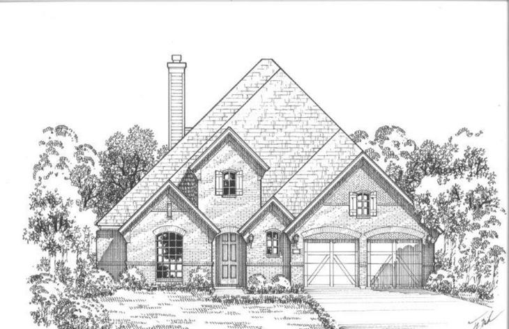 Exterior:Plan 1628 Elevation A