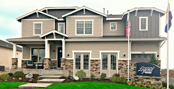 Heritage Ridge Plan C505 Front Elevation Photo by American Legend Homes