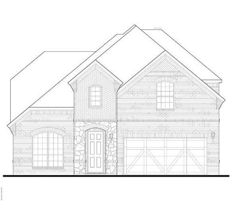 Exterior:7021 Cross Point Elevation A w/ Stone