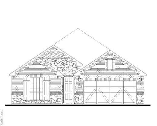 Exterior:1526 Carnation Elevation A w/ Stone