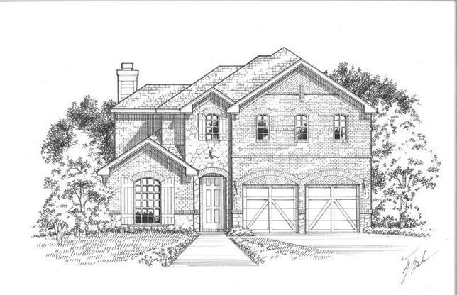 Exterior:16220 Benbrook Elevation A w/ Stone