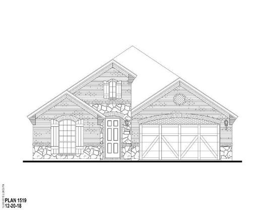 Exterior:1508 Wolfberry Elevation C w/ Stone