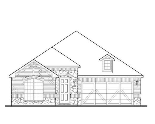 Exterior:1712 Carnation Elevation A w/ Stone