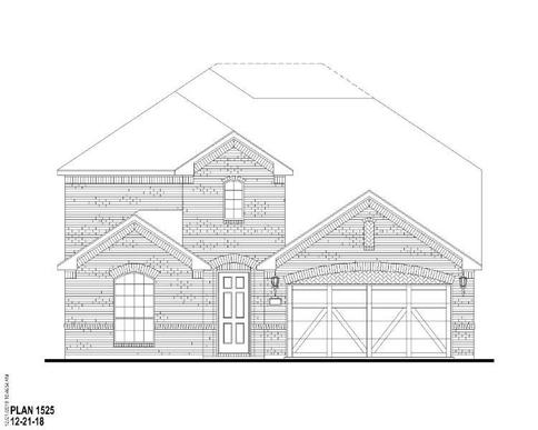 Exterior:Plan 1525 Elevation A