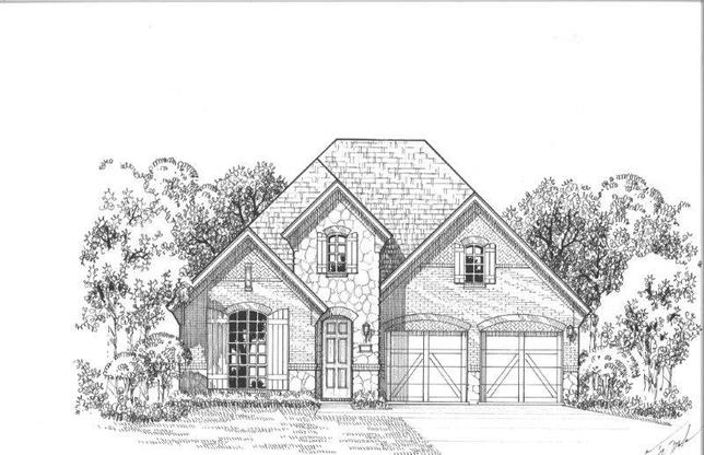 Exterior:Plan 1162 Elevation D w/ Stone