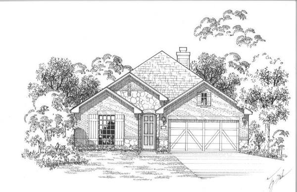 Exterior:12220 Beatrice Elevation A w/ Stone