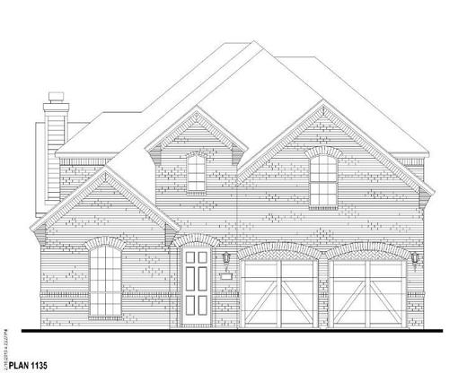 Exterior:Plan 1135 Elevation A
