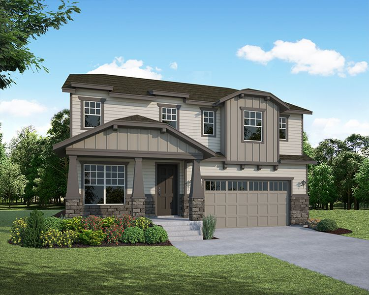 Exterior featured in the Plan C405 By American Legend Homes in Greeley, CO