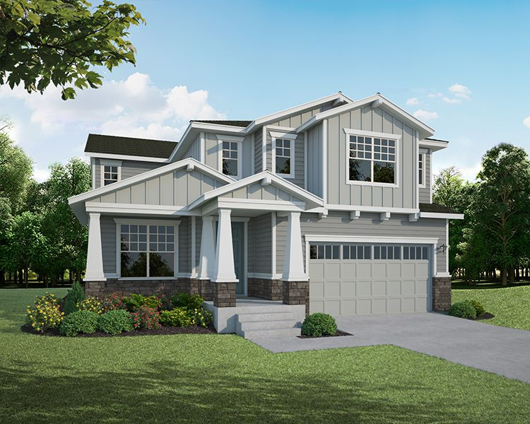 Exterior featured in the Plan C407 By American Legend Homes in Greeley, CO