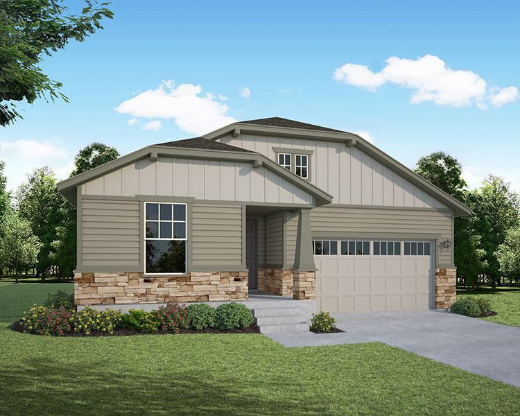 Exterior featured in the Plan C408 By American Legend Homes in Fort Collins-Loveland, CO