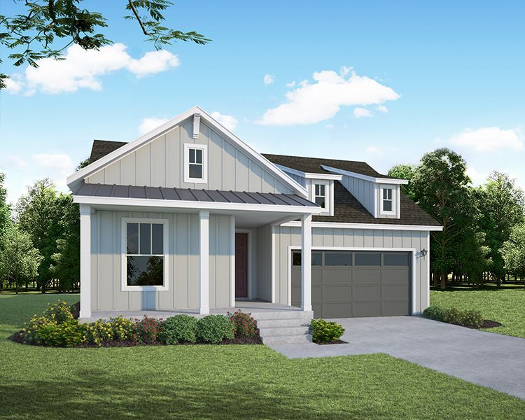 Exterior featured in the Plan C408 By American Legend Homes in Greeley, CO