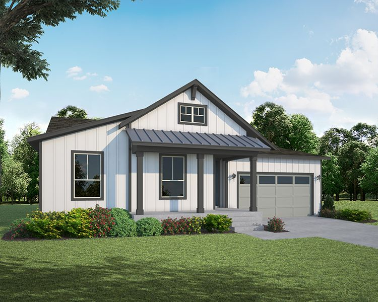 Exterior featured in the Plan C502 By American Legend Homes in Greeley, CO