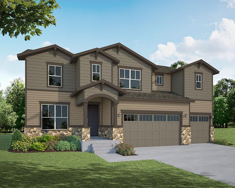 Exterior featured in the Plan C505 By American Legend Homes in Greeley, CO