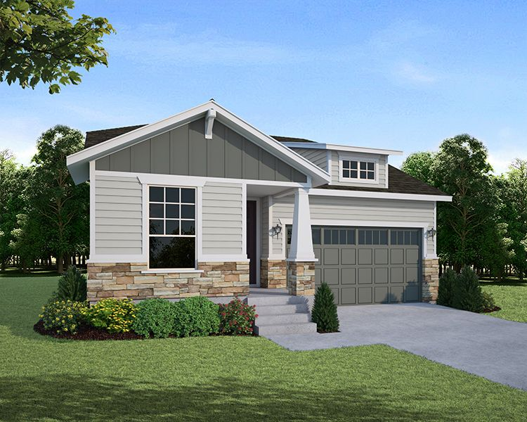 Exterior featured in the Plan C351 By American Legend Homes in Fort Collins-Loveland, CO