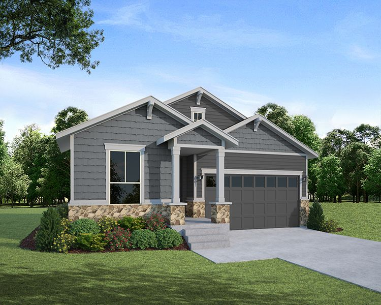 Exterior featured in the Plan C352 By American Legend Homes in Fort Collins-Loveland, CO
