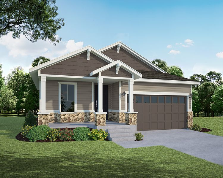 Exterior featured in the Plan C353 By American Legend Homes in Fort Collins-Loveland, CO