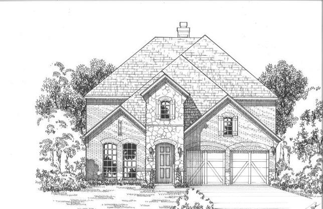 Exterior:756 Carlisle Elevation A w/ Stone