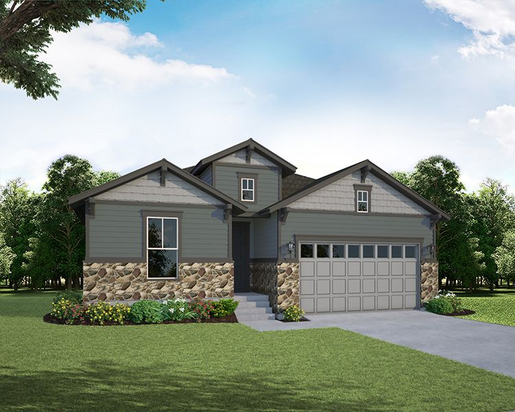 Exterior featured in the Plan C411 By American Legend Homes in Greeley, CO