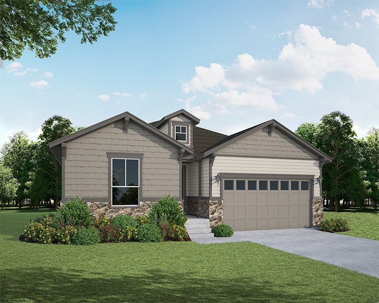 Exterior:1722 Long Shadow Elevation A