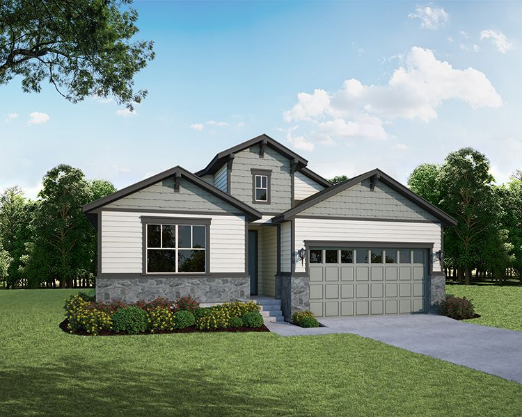 Exterior featured in the Plan V417 By American Legend Homes in Fort Collins-Loveland, CO