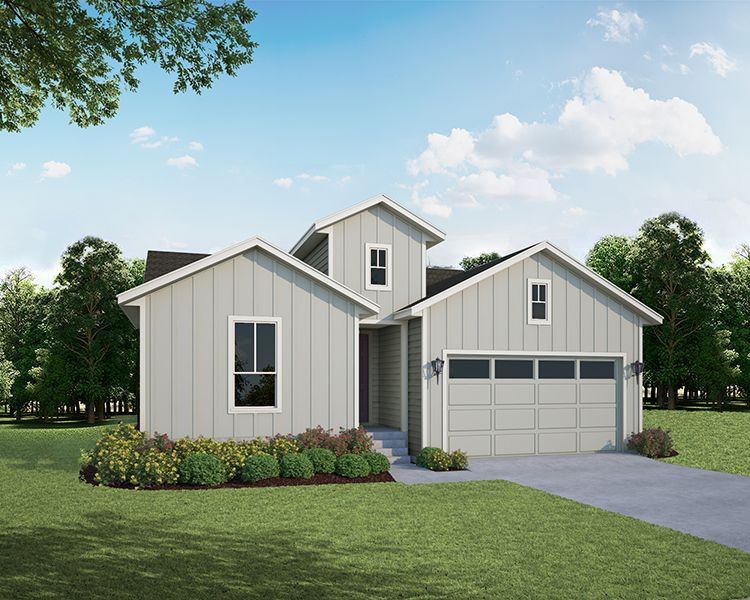 Exterior featured in the Plan V417 By American Legend Homes in Greeley, CO