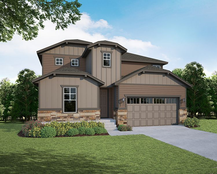Exterior featured in the Plan V419 By American Legend Homes in Fort Collins-Loveland, CO