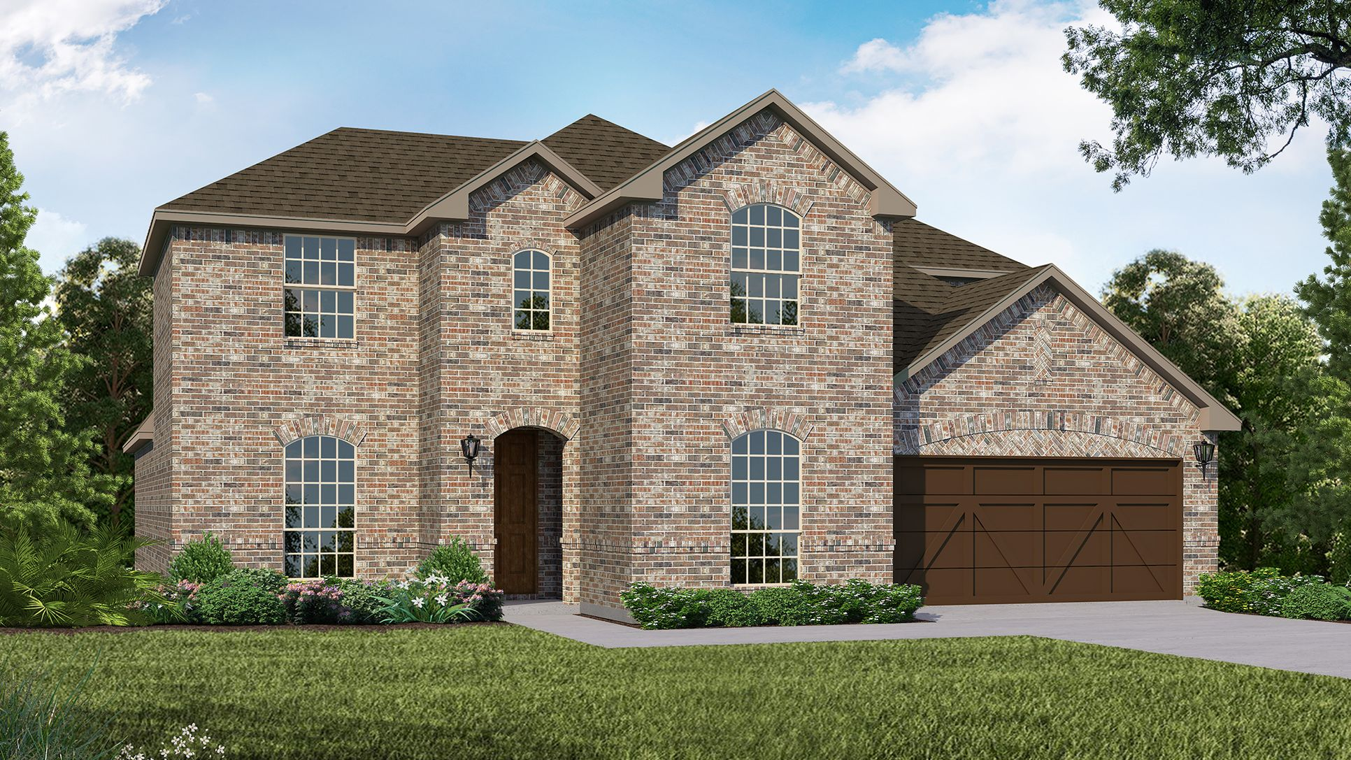 Exterior:Plan 1689 Elevation A by American Legend Homes