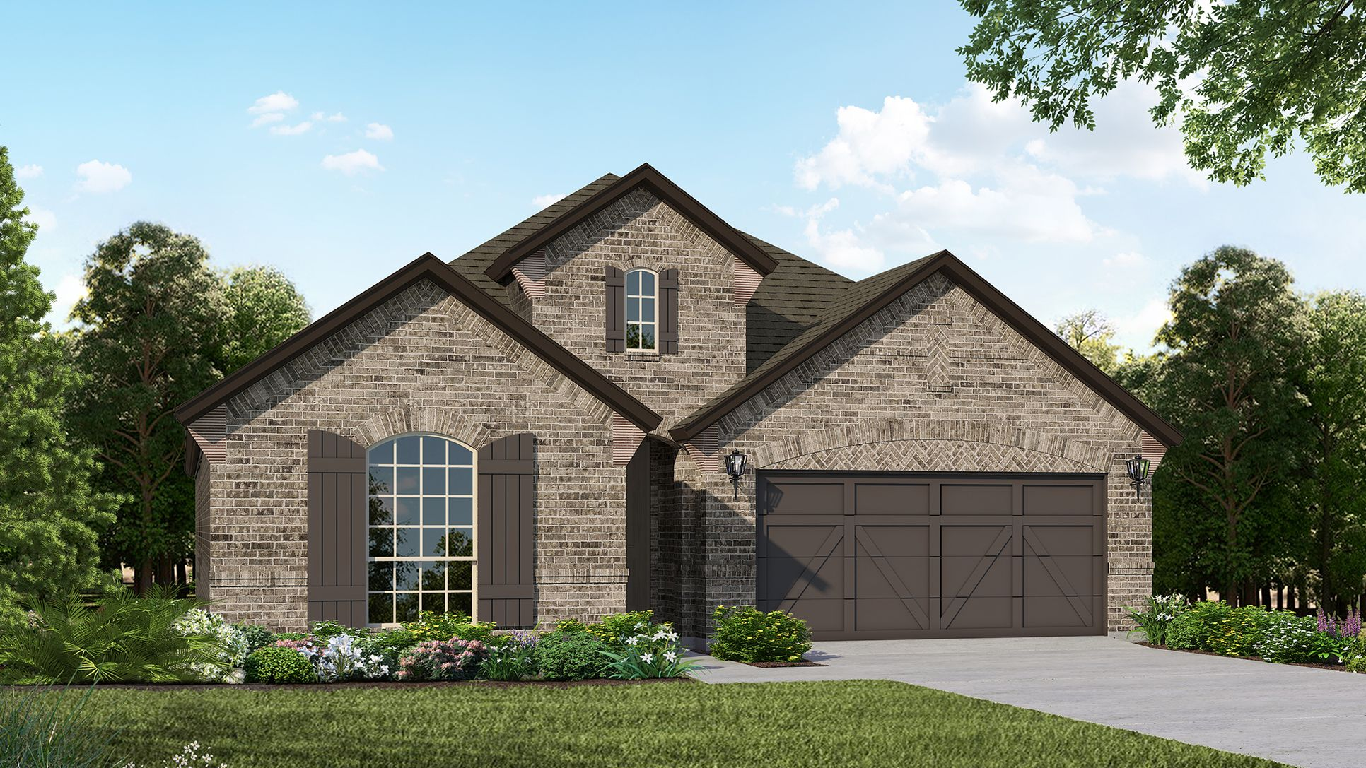 Exterior:Plan 1521 Elevation B by American Legend Homes