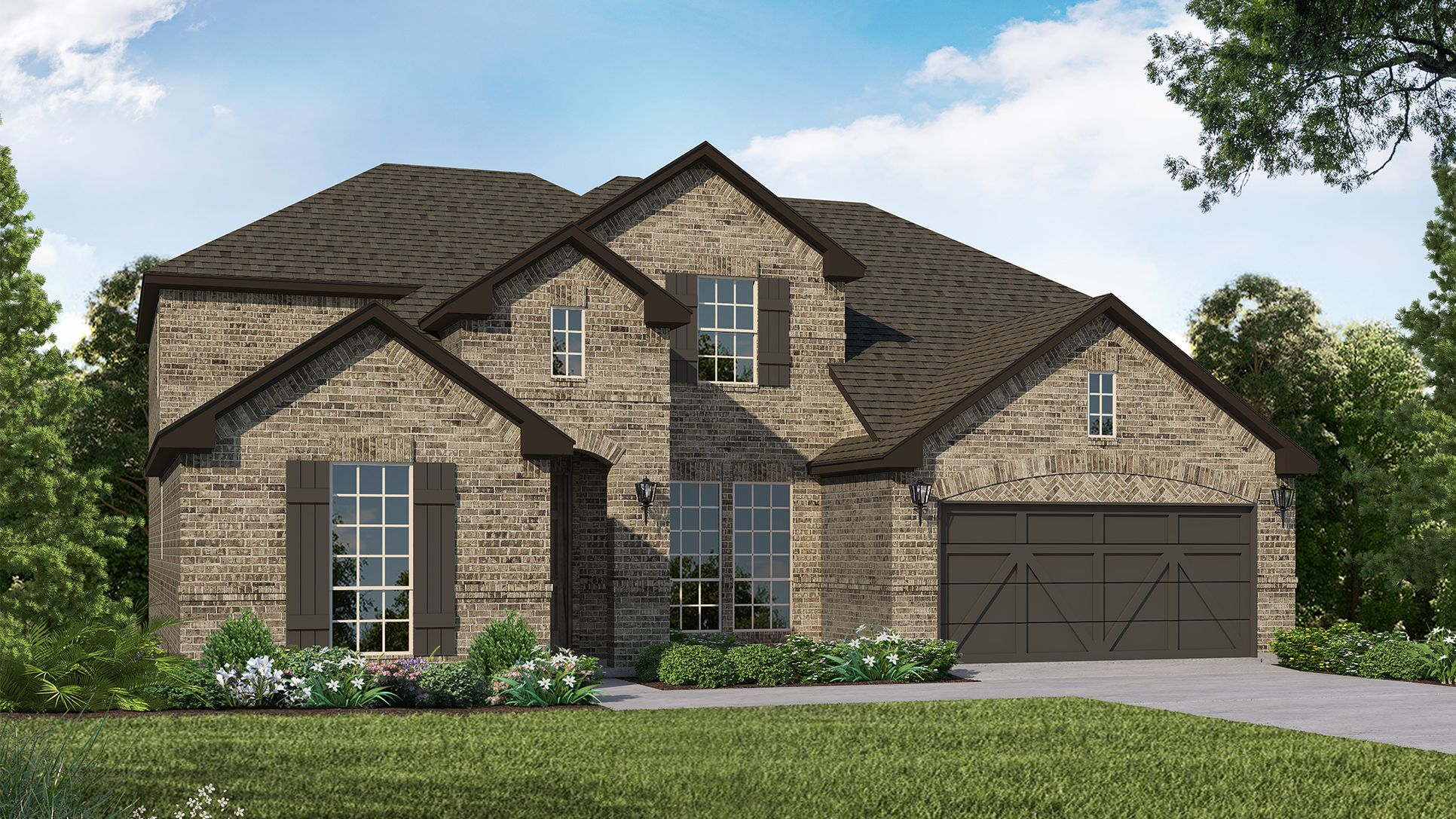 Exterior:Plan 1686 Elevation A by American Legend Homes