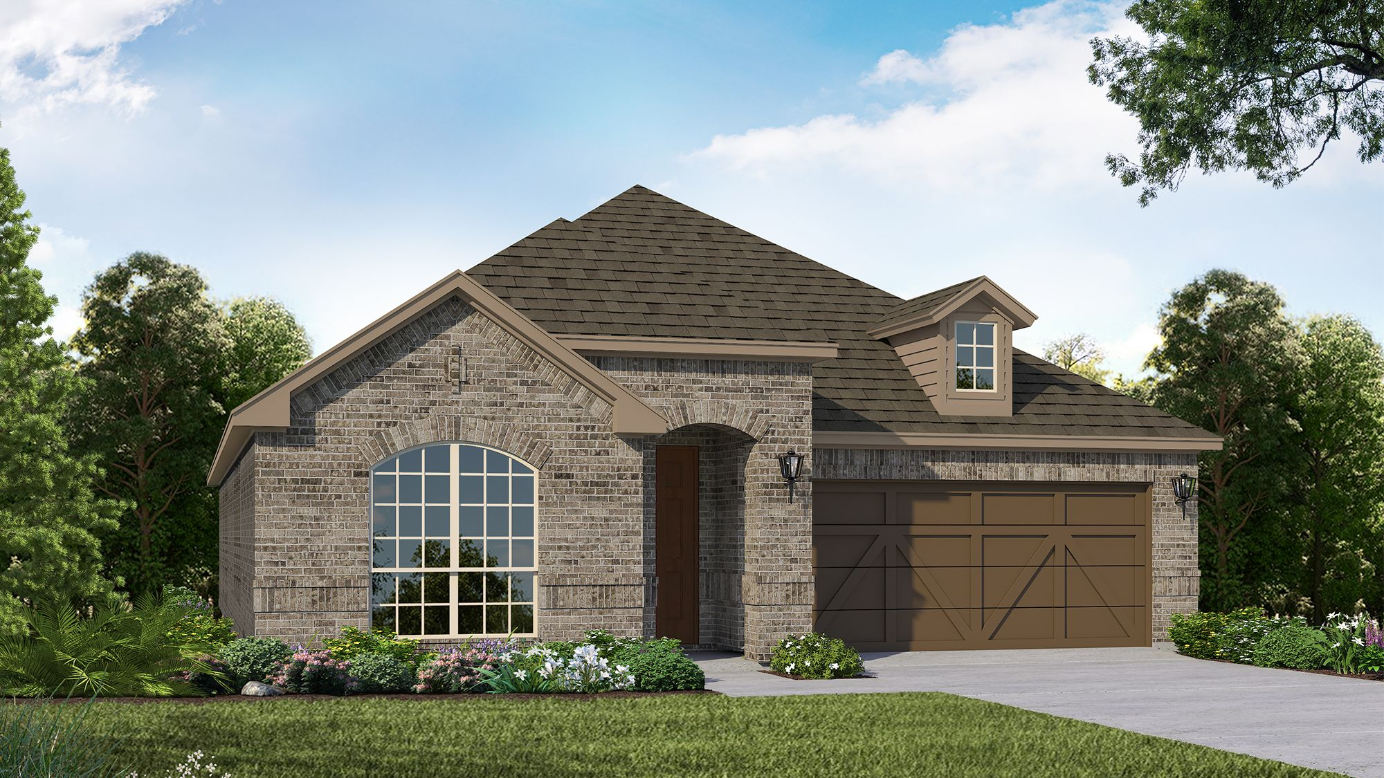 Exterior featured in the Plan 1522 By American Legend Homes in Dallas, TX