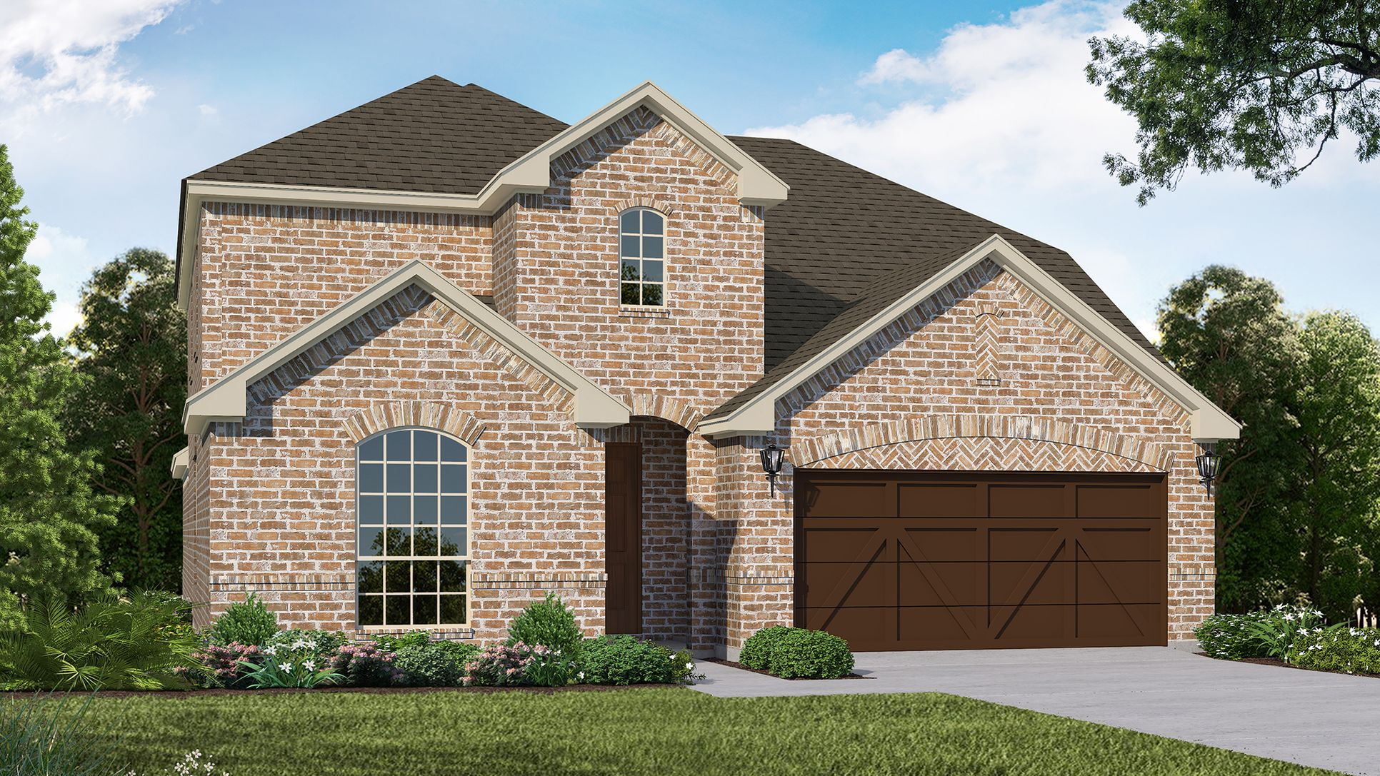 Exterior:Plan 1525 Elevation A by American Legend Homes