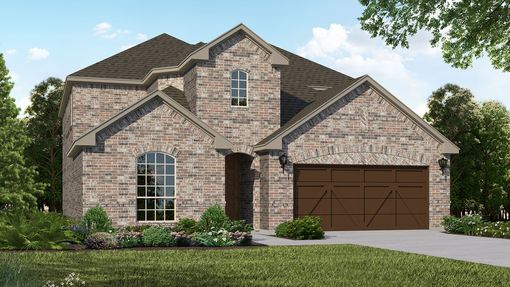 Exterior:Plan 1527 Elevation A by American Legend Homes