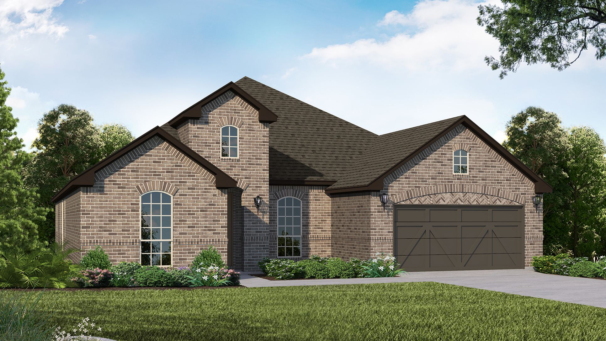 Exterior:Plan 1688 Elevation A by American Legend Homes