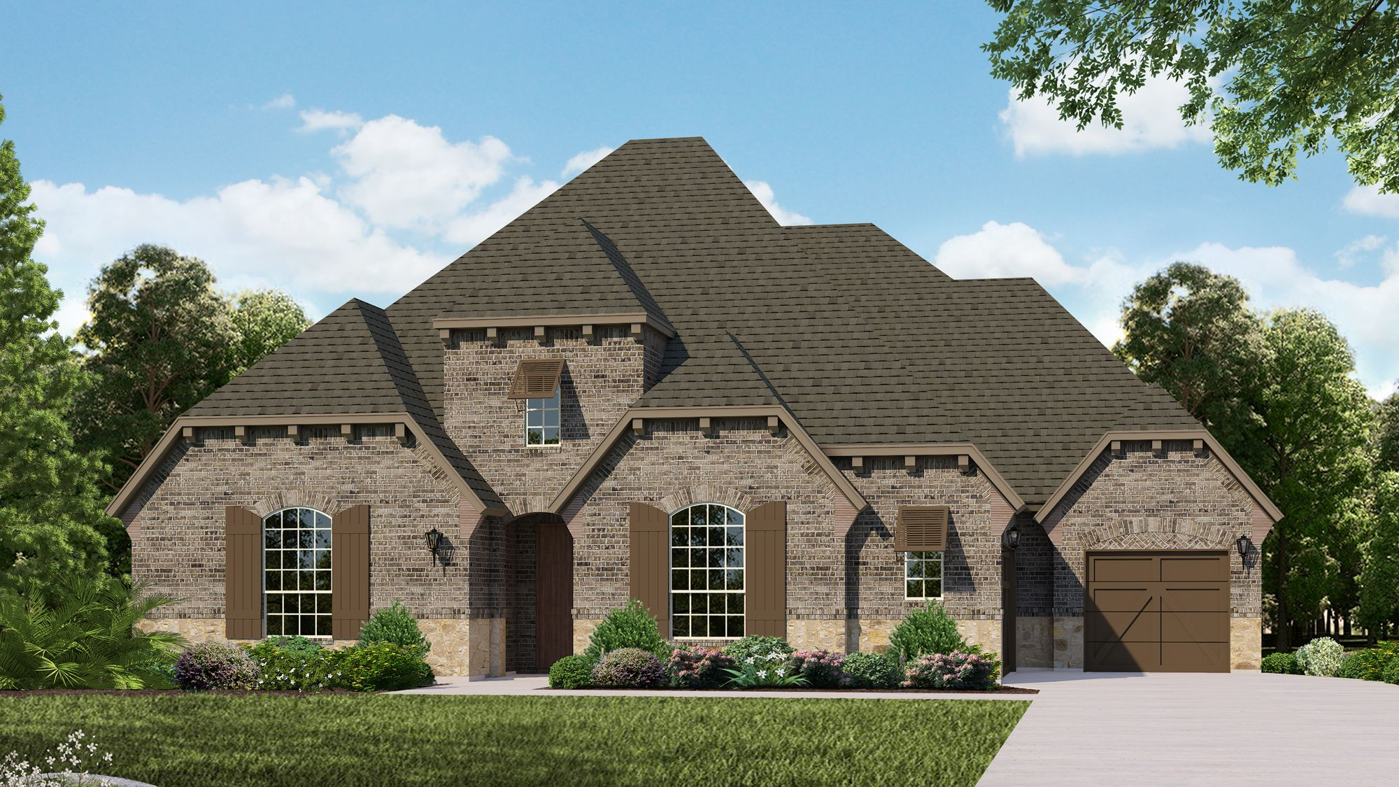 Exterior featured in the Plan 826 By American Legend Homes in Dallas, TX