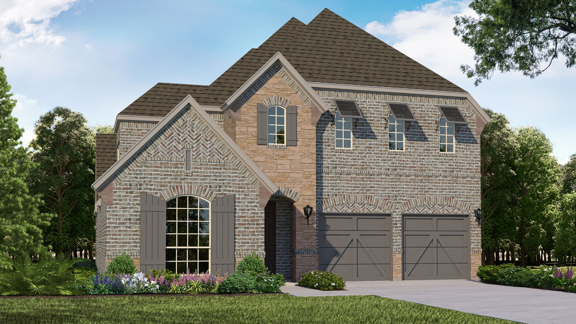 Exterior featured in the Plan 1504 By American Legend Homes in Dallas, TX