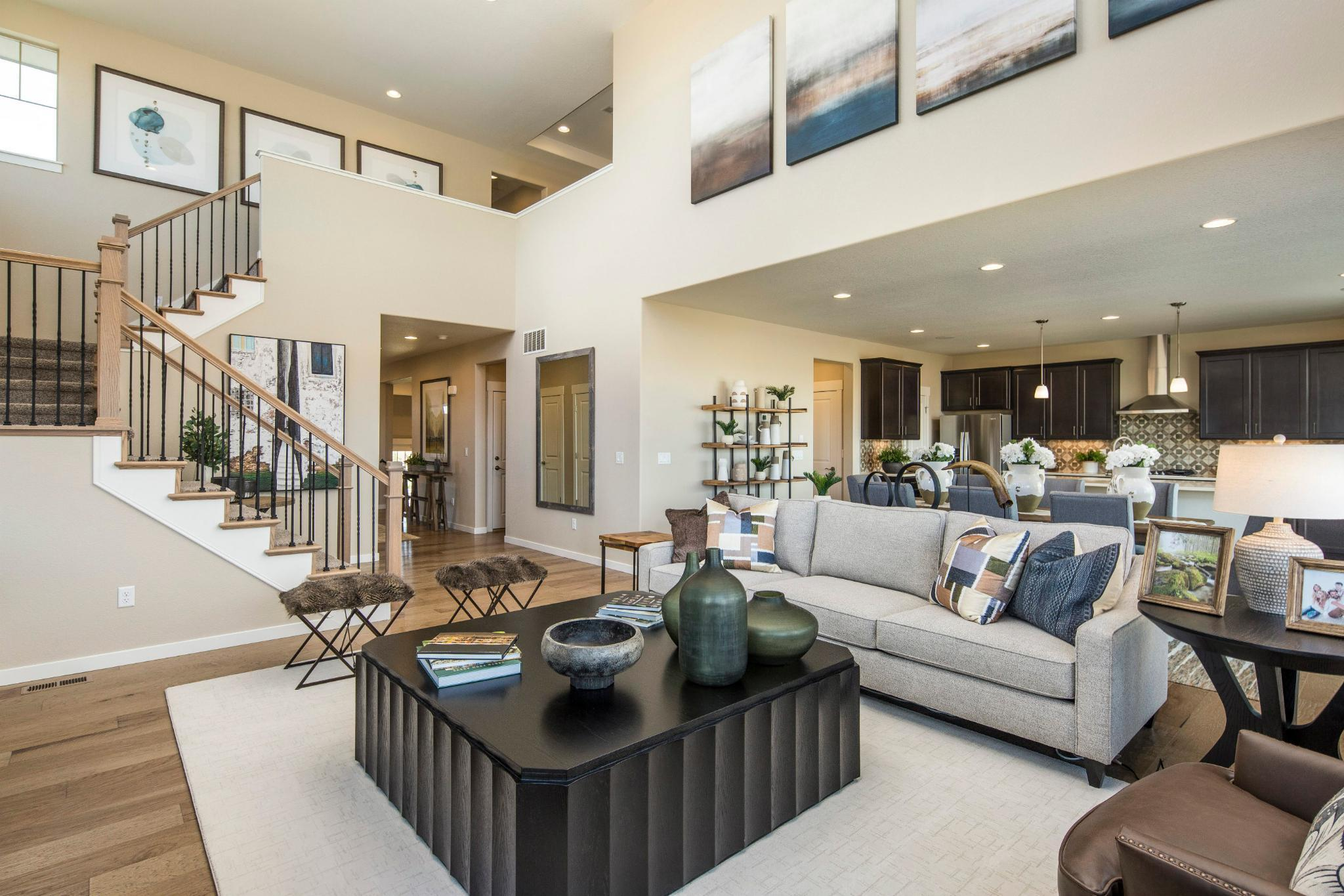Living Area featured in the Plan C407 By American Legend Homes in Greeley, CO