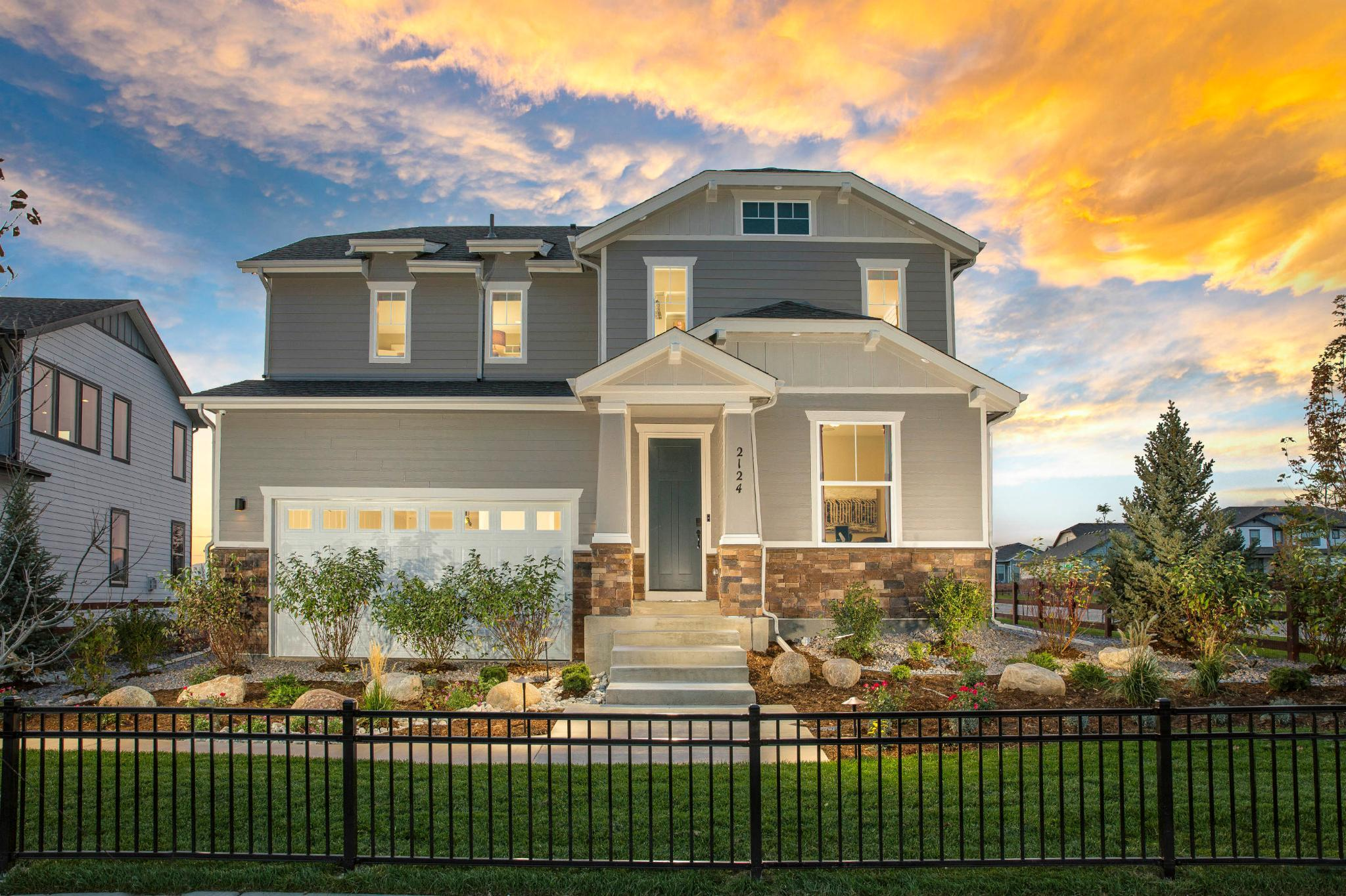 Exterior featured in the Plan V421 By American Legend Homes in Fort Collins-Loveland, CO