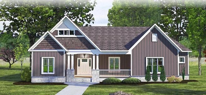 The Dover - Craftsman - Lot and Site Work not included