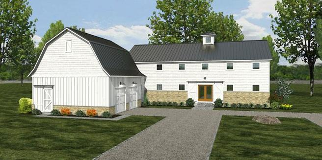 The Mapleton - Farmhouse - Lot and Site Work not included