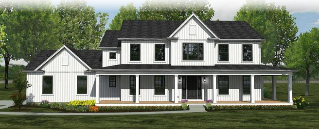 The Meadowbrook - Farmhouse - Lot and Site Work not included
